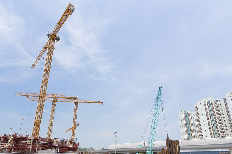 Speciális gép szállítás építési területre